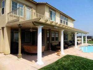 Long beach roman columns patio cover